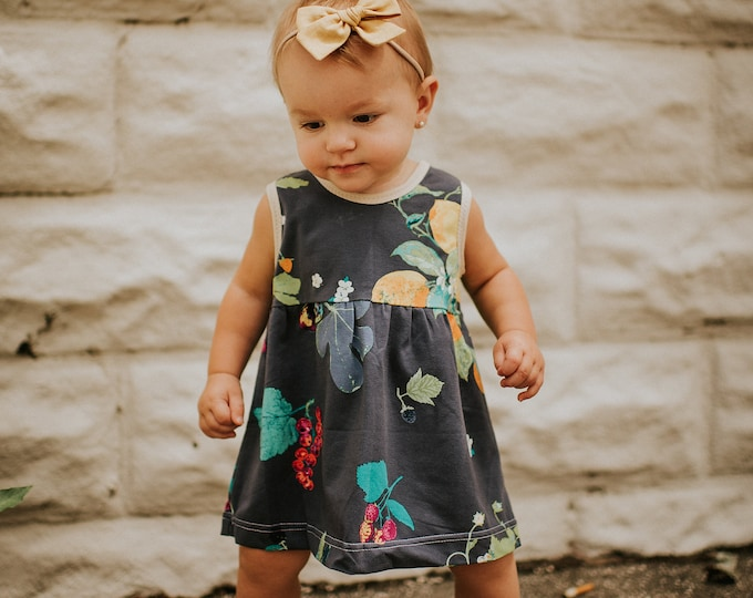 "Featured listing image: Bohemian Babies ""Fruit and Flower"" Tank Dress"
