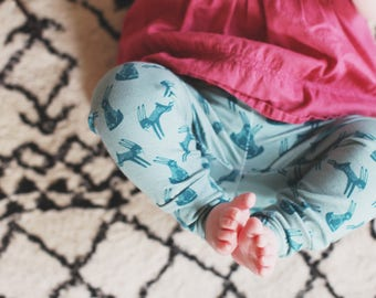 "Bohemian Babies ""Hopping Hare"" Leggings"
