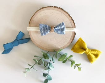 Bohemian Babies Heirloom Collection Denim Bow Set