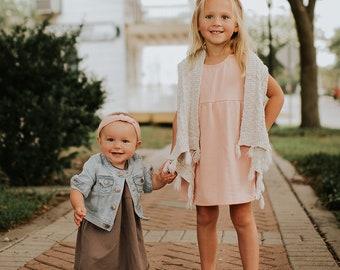 Bohemian Babies Bamboo Terry Tank Dress//5 Colors Available
