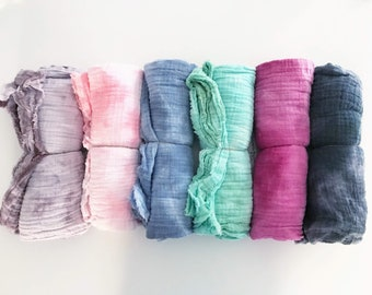 Hand Dyed Swaddle Blanket