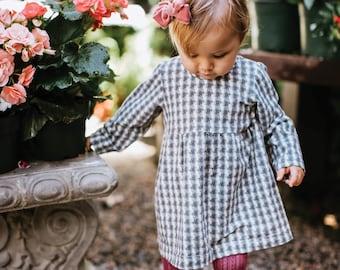 "Bohemian Babies ""Gray Plaid"" Dress"
