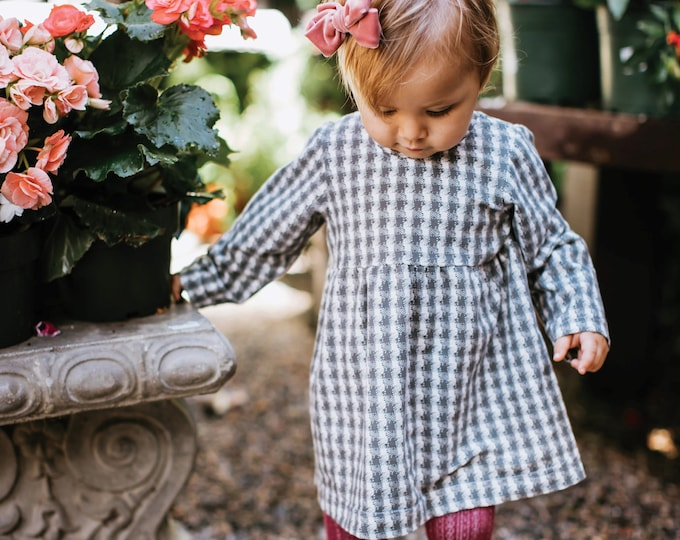 "Featured listing image: Bohemian Babies ""Gray Plaid"" Dress"