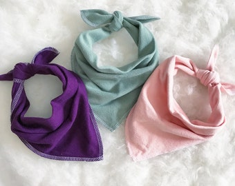 Bohemian Babies Bamboo Terry Bandana Bib//5 Colors Available