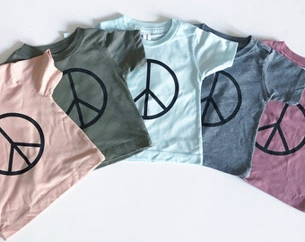 Bohemian Babies Peace Sign Tee//5 Colors Available