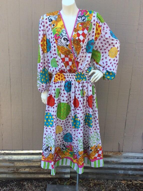 Diane Freis Multicolored Vintage Designer Dress