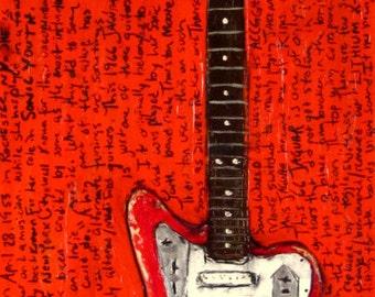 Bass Guitar Art  Kim Deal The Pixies Art  Fender bass guitar | Etsy