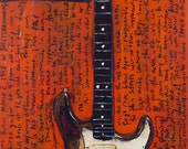 Stratocaster Guitar Art Rory Gallagher 1961 Vintage Fender Stratocaster. vintage electric guitar
