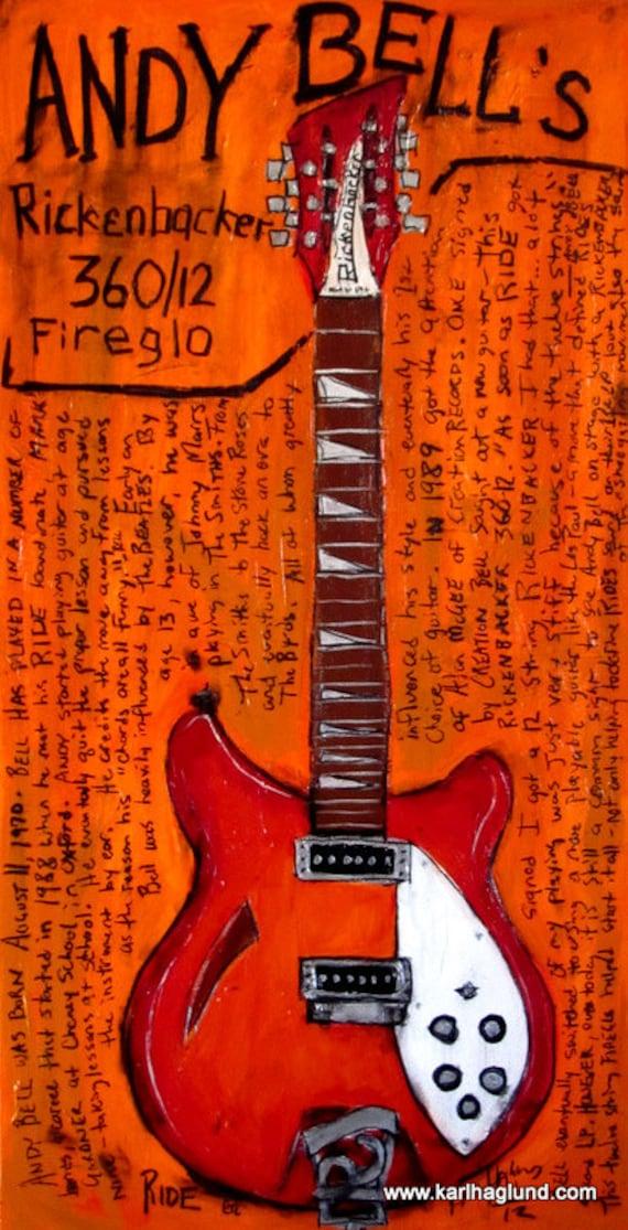 Andy Bells Rickenbacker 12 String Electric Guitar Art Etsy