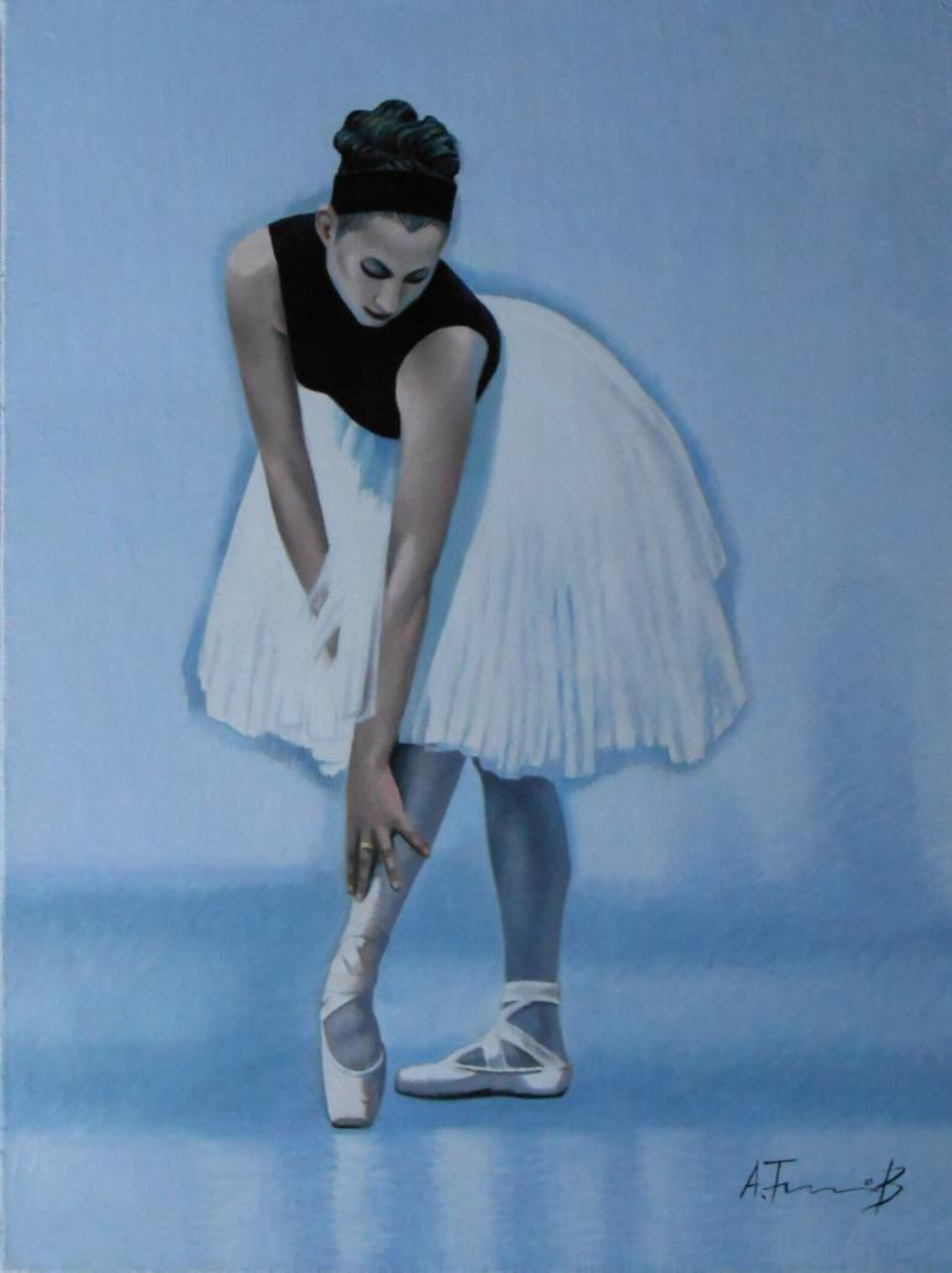 ballerina, portrait, ballet dancer, original oil painting 16