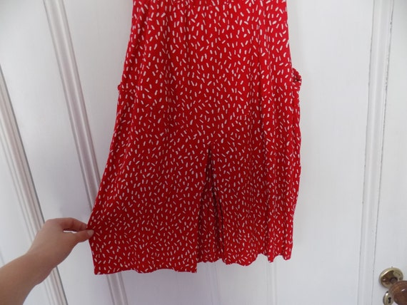 Vintage 80s Does 40s Red & White Maggy London by … - image 6