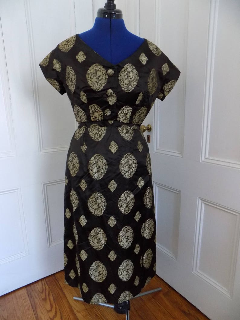 6a298682e4f Vintage 1950s Asian Inspired Cocktail Dress with Bolero