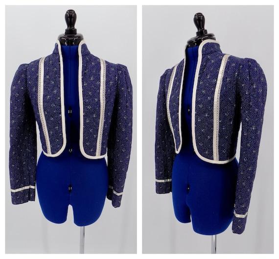 Vintage 1970s Gunne Sax Blue Boho Hippie Jacket