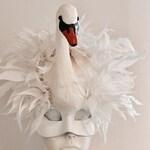 Swan Mask for Masked Ball- Swan Lake- Diner en Blanc- Bird Mask- Swan Costume -Swan Costume- White Mask- Swan Mask- Halloween- Animal Mask