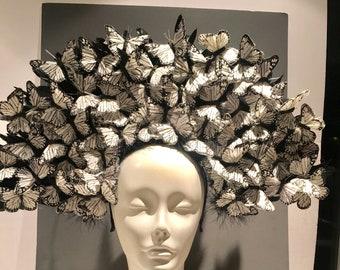 Butterfly Headpiece- Tea party Fascinator- Derby 5be522f8d43