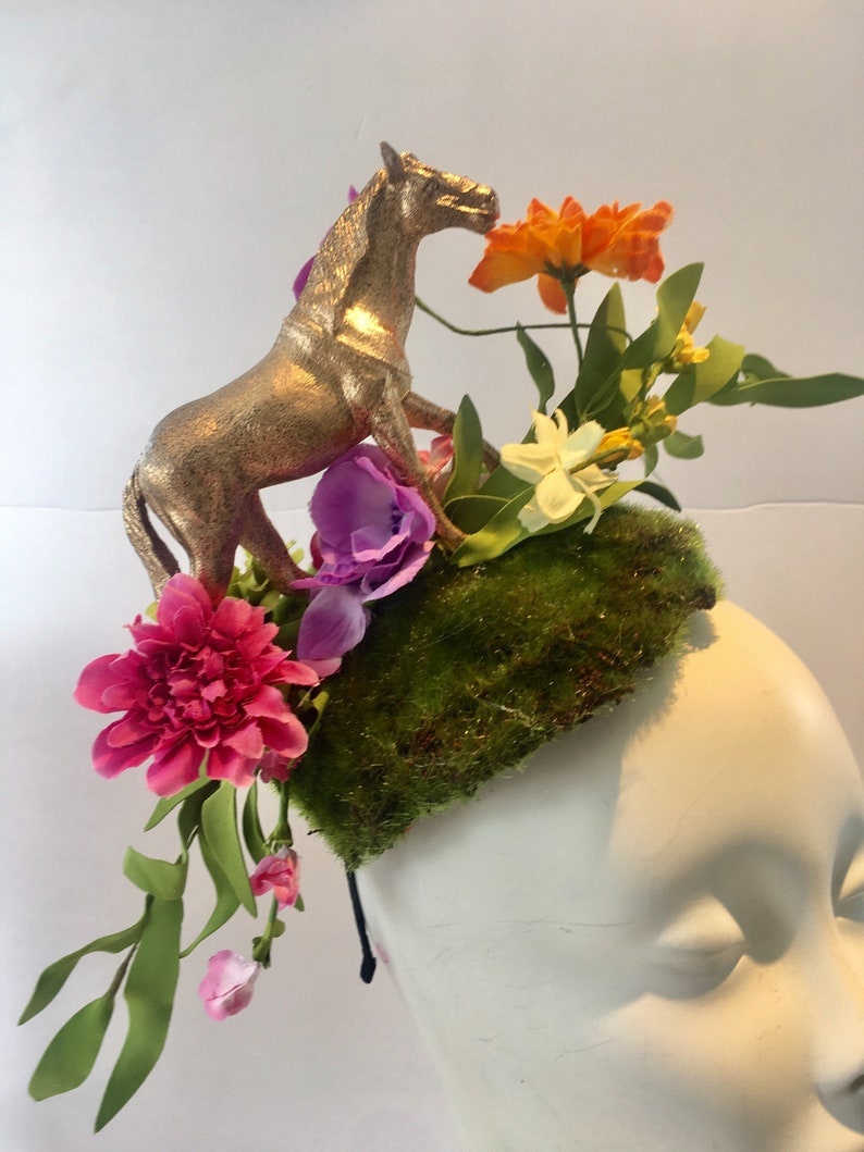 Horse Fascinator- Derby headband- Floral fascinator- Polo Match 512e79a3669