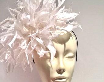 White Fascinator- Diner en Blanc- Wedding- Tea party Hat