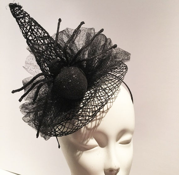 Witch Hat Witch Fascinator Mini Witch Top Hat Halloween  e13d0602f94