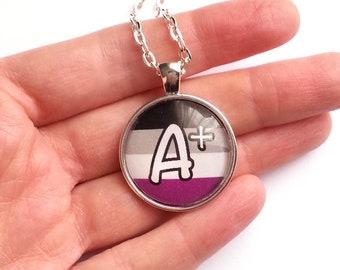 "Asexual Pride LGBTQ Quote Necklace - ""A+"""
