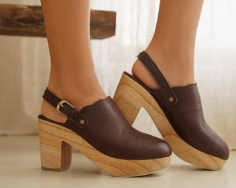 SIERRA. Leather clogs | leather mules | barefoot shoes | swedish clogs | dutch clogs