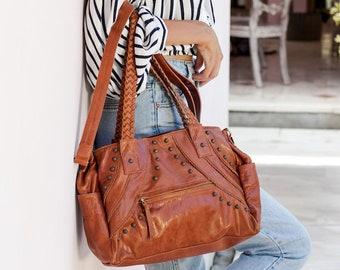 21eb96542bd SALE. URBAN NOMAD. Leather satchel bag women / satchel purse / | Etsy