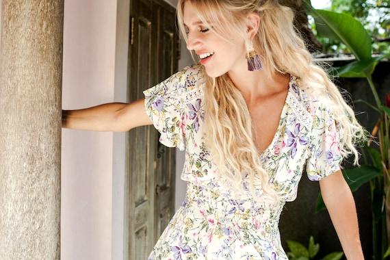 1e71515167f Sale. DEL SOL. High low dress women / maxi dress / boho frill | Etsy