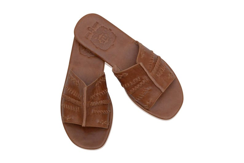 c9fa48ab5 DOLCE VITA. Leather slides / women shoes / slip on sandals / | Etsy