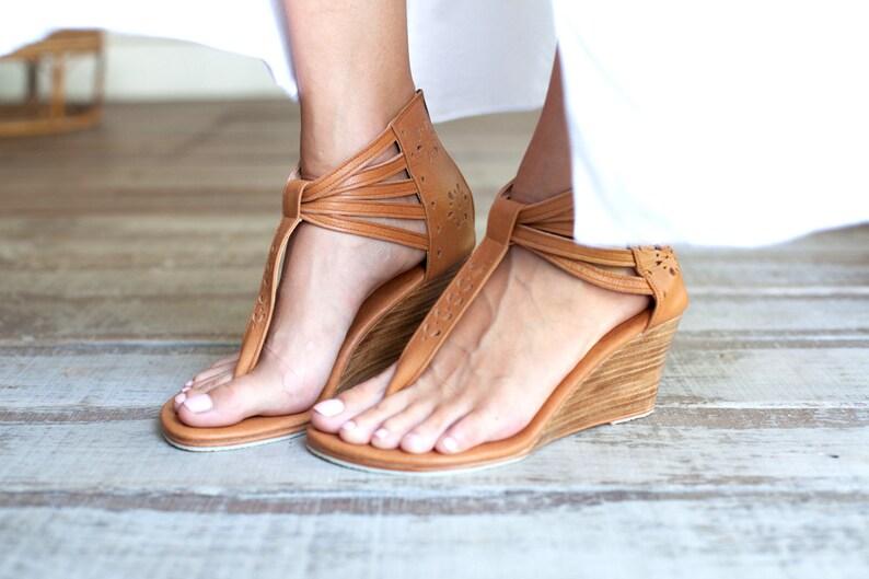 BORA BORA. Leather wedges  sandals   women shoes   heels    7c12cf044