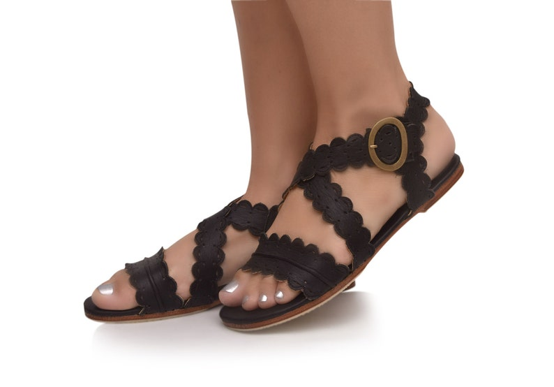 MERMAID. Black leather sandals women shoes women sandals leather shoes boho shoes. Sizes 35 43. Available in different leather colors