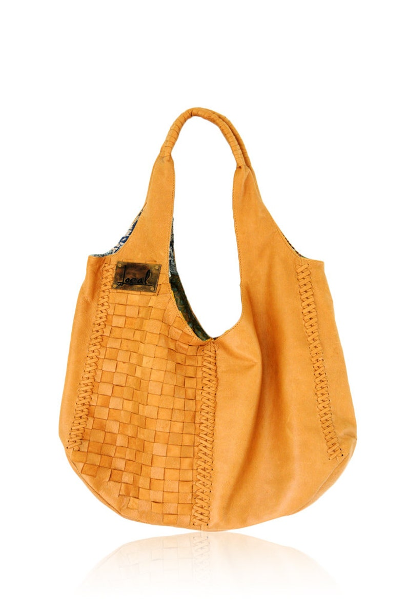 08b507a616 BAHA. Leather tote bag   slouchy leather bag   leather