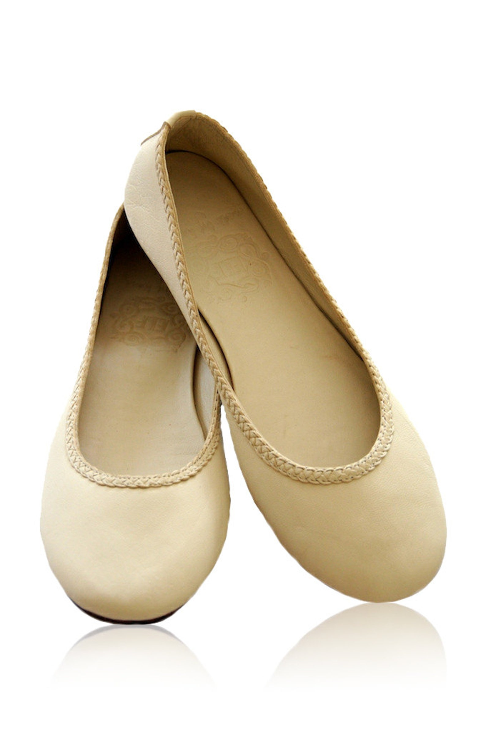 aisÉ. ivory womens shoes / leather ballet flats / bridal shoes / wedding shoes / leather flat shoes. available in different leat
