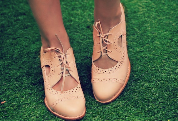 Stockholm Leather Booties Womens Oxfords Womens Leather Etsy