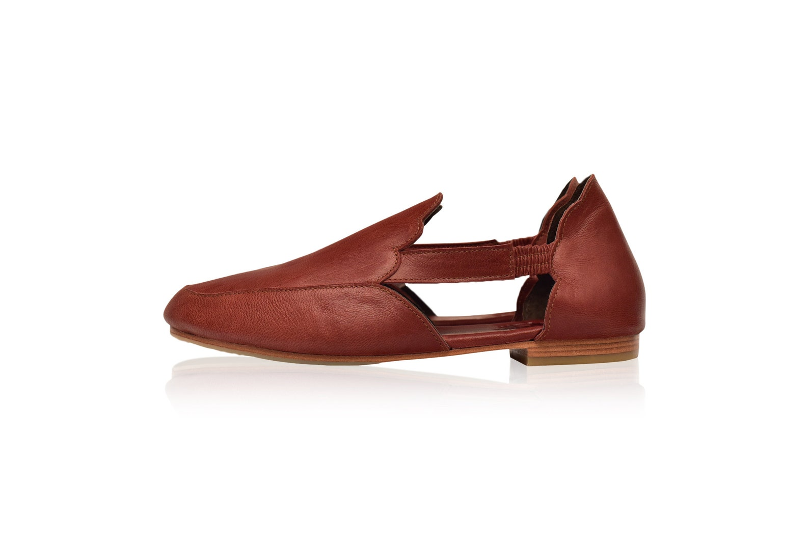 amalfi. brown leather flats / brown leather ballet flats / leather shoes handmade/ boho leather sandals sizes 35-43 available in