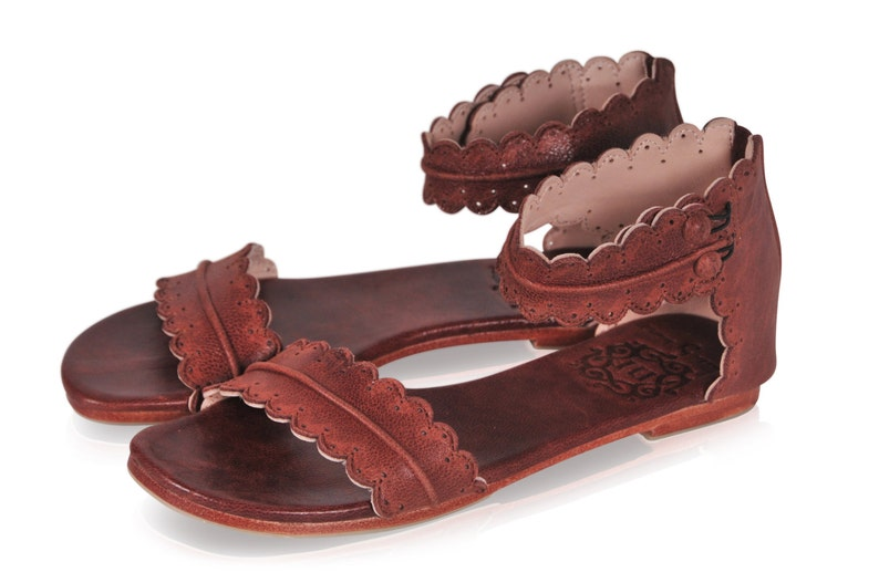 64f5bd3b4ddb MIDSUMMER. Brown leather sandals   women shoes   leather shoes