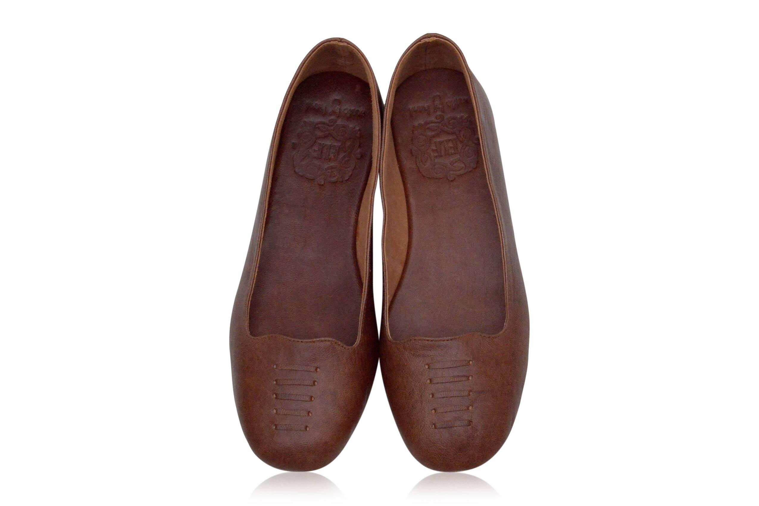 73c880d05 LUNA. Brown flats / women shoes / leather flat shoes / women | Etsy
