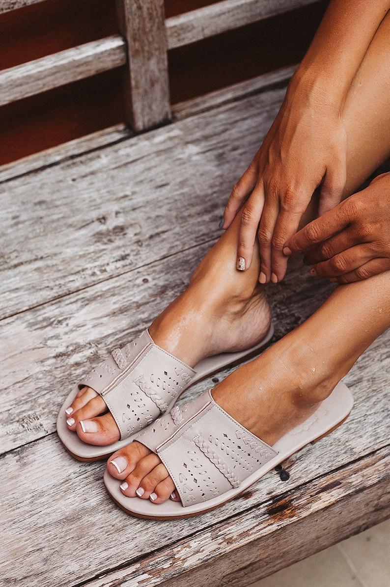 de014b9e3 DOLCE VITA. Leather slides / women shoes / leather sandals / | Etsy