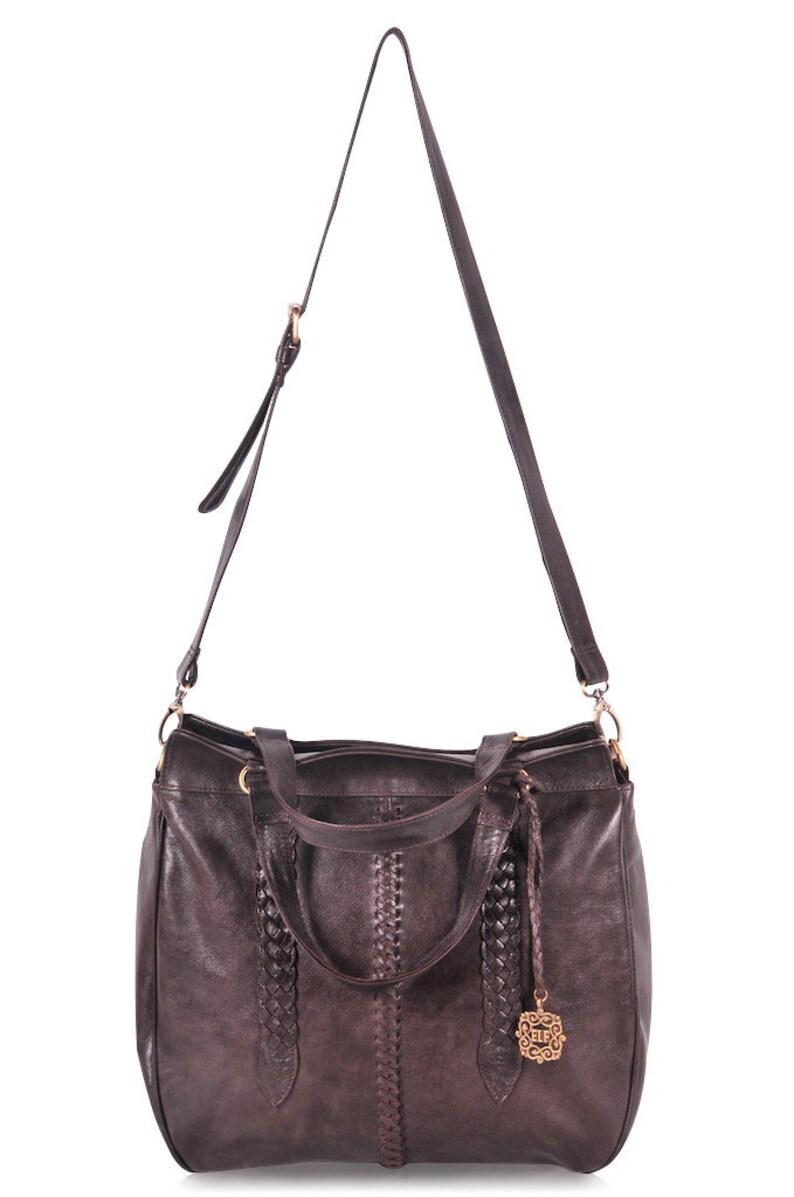 728de97403 FRIDA. Brown Leather bag   convertible bag   leather shoulder