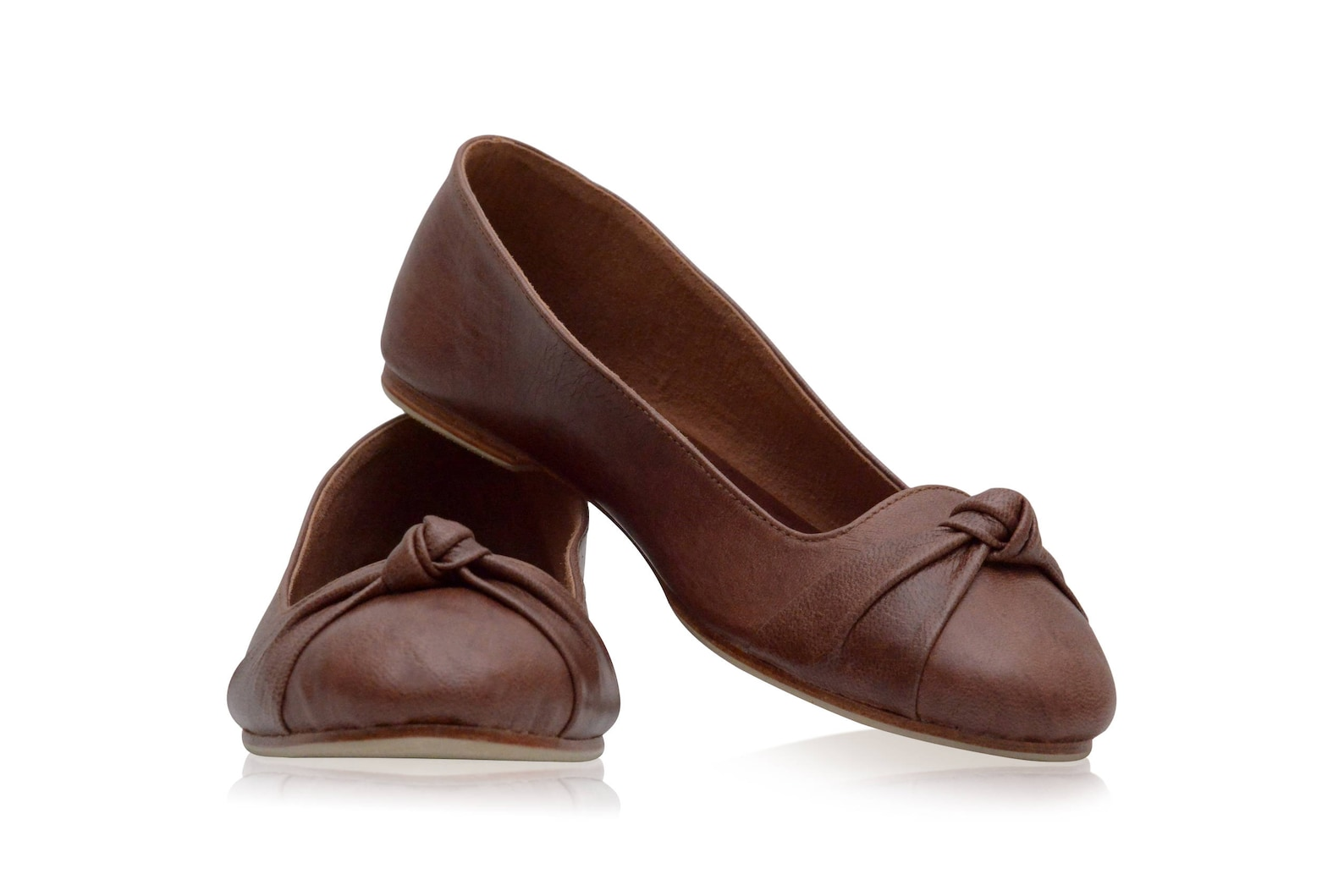 panama. brown shoes / leather ballet flats / women shoes / brown leather flats / women flats. sizes 35-43. available in differen