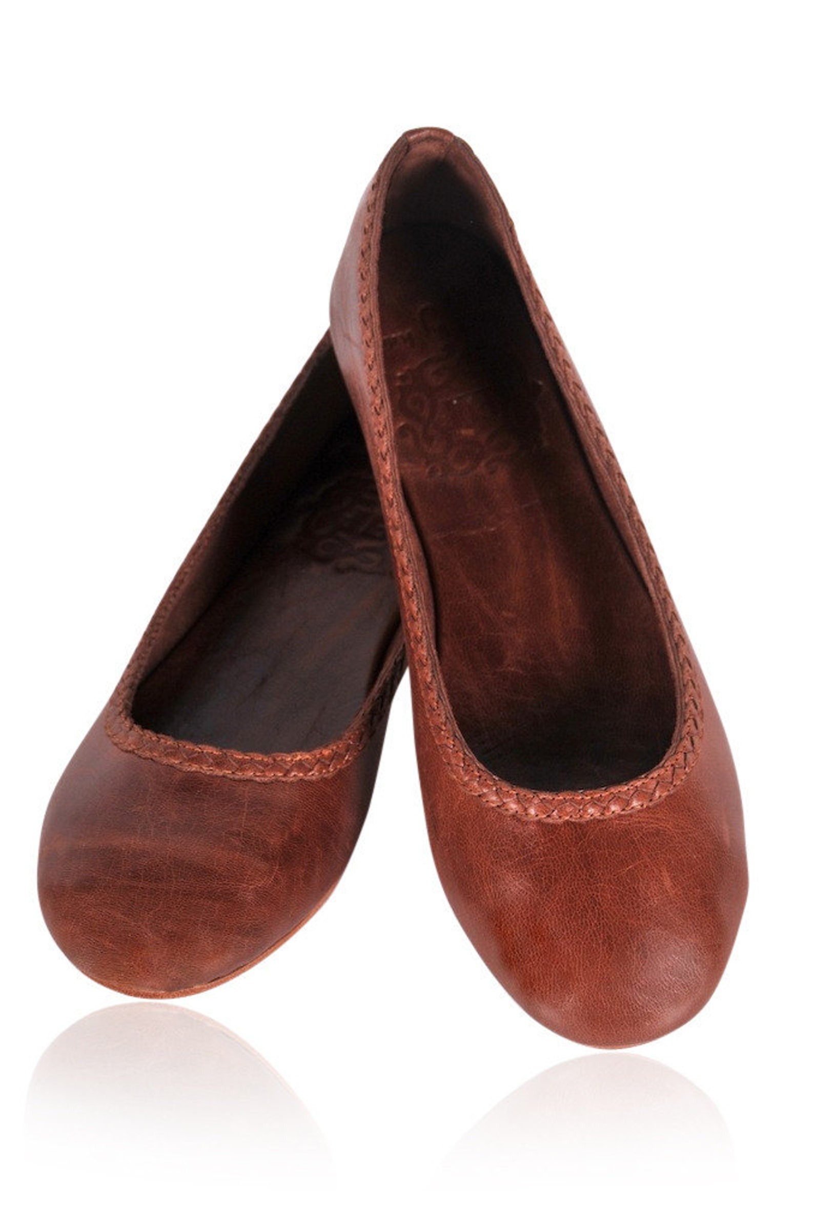 aisÉ. leather flat shoes / leather ballet flats / brown leather shoes. sizes: us 4-13, eur 35-43. available in different leather