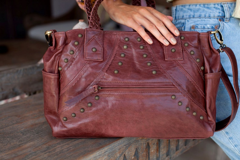 4280cd7f475 URBAN NOMAD. Leather satchel bag women / satchel purse / satchel handbag /  satchels for women / bohemian. Available in other leather colors