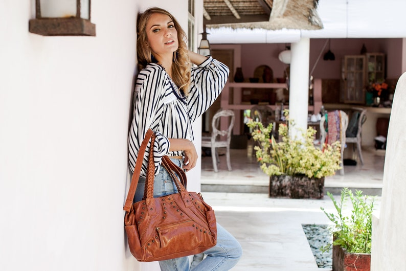 0b5bce347bd URBAN NOMAD. Leather satchel bag women / satchel purse / leather tote bag /  satchels for women. Available in other leather colors