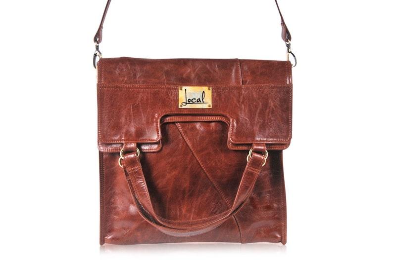 ff2c18bcc MI-VIDA. Leather convertible bag / crossbody bag / foldover | Etsy