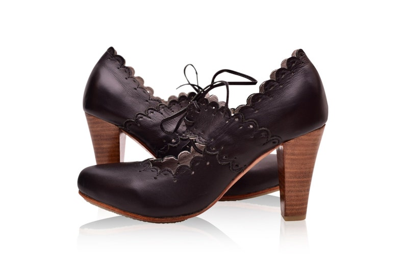 c275930177818 PARADISE BIRD. Black heels / black shoes / leather heel shoes / women dance  shoes / boho. Sizes 35-43. Available in different leather colors