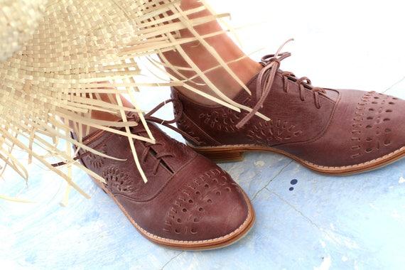 HEARTBREAK. Brown Oxford en cuir / / / marron chaussures oxford / Marron  Oxford / Marron  chaussures en cuir. Tailles 35-43. Disponible en différentes couleurs | Dans De Nombreux Styles  66d18d
