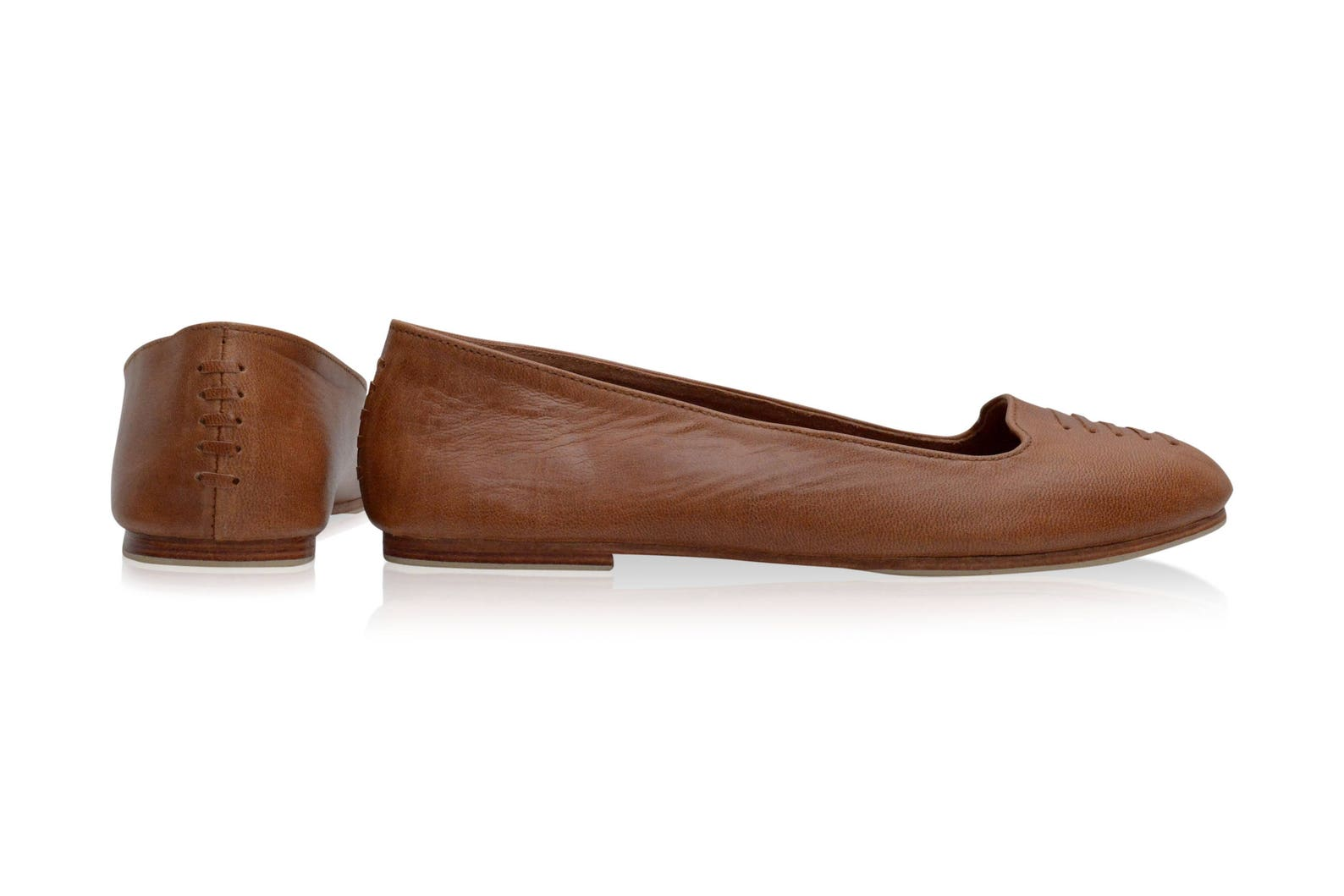 luna. brown leather shoes / women shoes / leather flat shoes/ women flats / leather ballet flats. sizes 35-43. available in diff