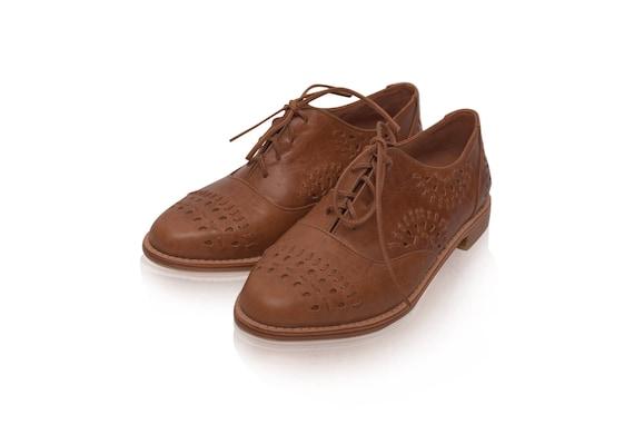 Heartbreak Leather Oxford Shoes Leather Oxfords Women Etsy