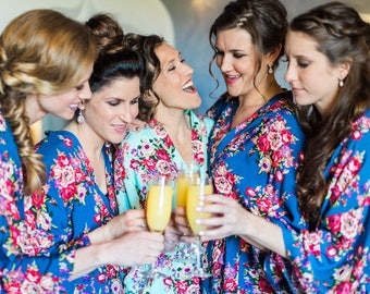 Cotton Floral Robe, Bridesmaid Robe, Bridesmaid Gift, Maternity Robe,Bridal Party Robe,Shower Gift,Bachelorette Gift,Wedding Robe,Plus Size