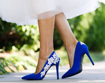 f09d4ced560 Blue Wedding Shoes for Bride