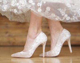 b2dece6121ee Champagne Wedding Shoes