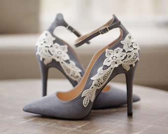 86f0abe4f50fdd Grey Bridal Shoes
